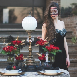 MUA: AMANA BEAUTY PHOTOGRAPHY: ALISHA KHAN PHOTOGRAPHY DECOR, PLANNING AND DESIGN: MOSAIC PARTY AND EVENT DESIGN MODEL: MICHELLE A FROM SHINE MODELS FLORAL DESIGN: TANGERINE ORCHID WARDROBE: GEORGIE GIRL