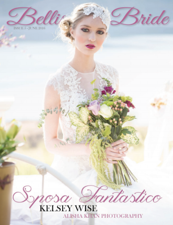 PUBLISHED on the front cover of Bellissima Bridal Magazine