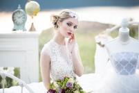 Makeup: Amana Beauty Model: Kelsey Wise from DVM - Dejavu Model Management Photography: Alisha Khan Photography Dress: Lillian Wild Bridal Accessories: Snazzy Designs Florals: Landmark Flowers Decor: Blushing Pear Vintage Rentals
