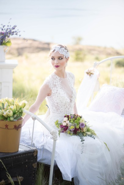 Makeup: Amana Beauty Model: Kelsey Wise from DVM - Dejavu Model Management Photography: Alisha Khan Photography Dress: Lillian Wild Bridal Accessories: Snazzy Designs Florals: Landmark Flowers Decor: Blushing Pear Vintage Rentals